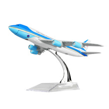 United States Air force one B747-200 Airlines Plane Model 16cm Child Toy Birthday Gift Metal Free Shipping(China)