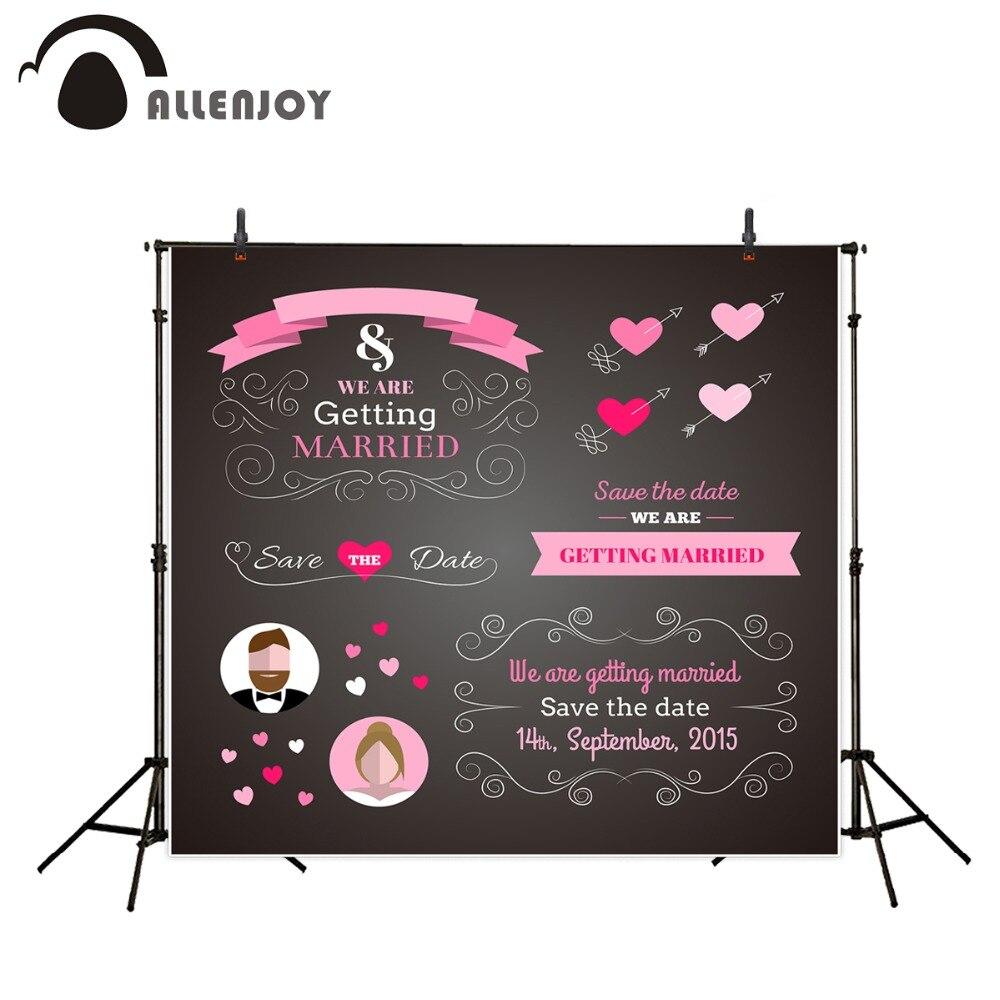 Allenjoy photography background 200cm*300cm vinyl backdrop wedding scene welcome poster blackboard custom Information for studio<br><br>Aliexpress