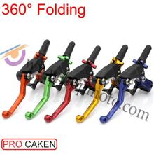 360 degree CNC Folding Clutch Lever power saving dirt bike pit bike Motocross Racing PRO High Performance Spare Parts