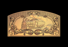 Train 3D Relief Model in STL format CNC Router Carving Engraving Artcam aspire M101
