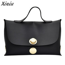 Xiniu luxury Women handbag Wind Soft Pure Color Handbag Messenger Bags big capacity Casual Tote bolsa feminina(China)