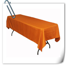 Big Discount !!! 10pcs 150*320cm Rectangle Orange table cloth 180GSM For Wedding Events &Hotel & Banquet Free shipping(China)