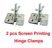 "Free Shipping Cheap 2pcs Screen Printing Butterfly Hinge Clamps wholesale 2"" thickness perfect registration(China)"