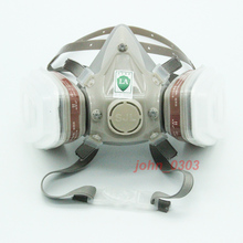 7 Pcs Suit 6200 Respirator Gas Mask Painting Spraying Half Face (Support 3M Filter)