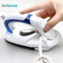 Mini Portable Foldable Electric Steam Iron For Clothes With 3 Gears Teflon Baseplate Handheld Flatiron For Home Travelling(China)