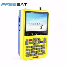 FREESAT V8 Finder HD Digital Satellite Finder Meter DVB-S2 FTA LNB Signal Pointer Satellite TV Receiver Tool with 3.5'' LCD