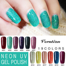 Verntion Color Uv Gel Hybrid Varnish Polish Gel Soak Off Nail Gel Polish Semi Permanent Top and Base Coat Gel Lacquer(China)