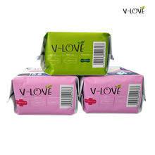 3packs/lot=50pcs VLOVE Anion Feminine Sanitary Pads and Panty liners for women Imported Super Absorbent Polymer