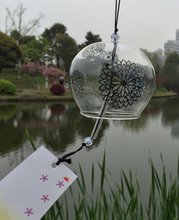 Chrysanthemum Glass WindChime,Handmade 8CM Japan Furin Wind Bell/wind chime for brithday gifts,home decor,holiday gifts