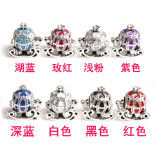 free shipping 1pc christmas gift european enamel white pink black blue purple car bead charm fit pandora charm bracelet A023(China)