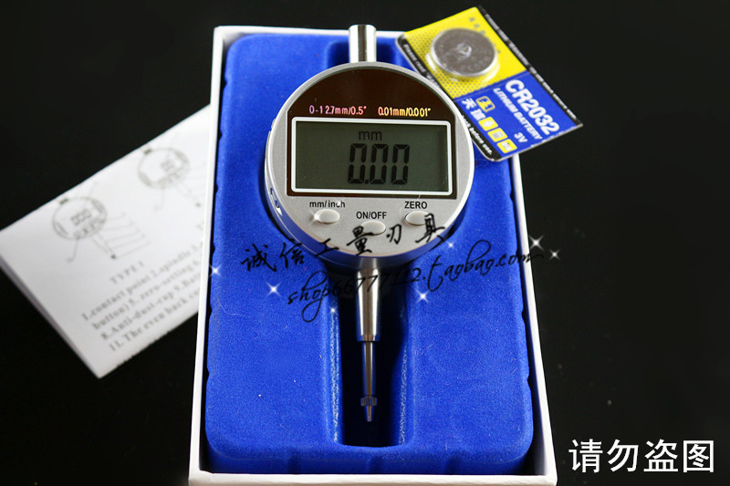 0-12.7mm 1/2 Mini Digital Dial Indicator DTI 0.01mm 0.0005 Large LCD<br>