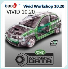 Software Vivid Workshop 10.20 Maintenance,Service Manual, Flat Rates And Electrical Wiring Diagram for All Models Cars(China)
