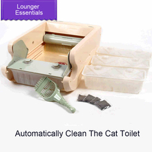 Closeted Pet Automatism Cat Litter Bag Box Dog Potty Toilet WC Gatto Sand Pickup Tool Casa Plastico Gatos Pets Tools 70Z2044