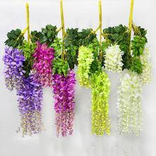 Artificial Vine Flowers wisteria simulation rattan flower bracketplant string plant Home wall decoration wedding Vine Flower K3(China)