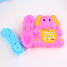 The elephant music telephone electric light-emitting toys toys for children(China)