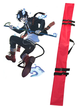 Free Shipping Ao no Exorcist (Blue Exorcist) Okumura Rin Red Black Blue and Purple Sword Bag Cosplay Accessories(China)