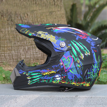 2017 New ABS Motorcross Helmet Full Face DOT S/M/L/XL Cascos Moto Capacetes Fit Man And Women for monster Motorcycle Helmet(China)