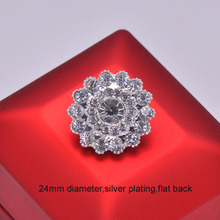 (L0073) free shipping wholesale 50 pcs/lot, metal rhinestone embellishment,silver or rose gold plating,flat back