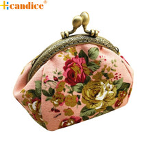 Best Gift Hcandice New Women Lady Retro Vintage Flower Small Wallet Hasp Purse Clutch Bag drop ship bea6623