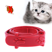 Red Adjustable Dog Cat Rabbit Neck Strap Anti Flea Mite Acari Tick Remedy Pet Collar Pet Supplies Summer(China)