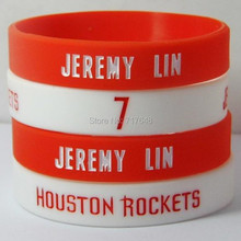 1pc Jeremy Lin wristband silicone bracelets rubber cuff wrist bands bangle free shipping(China)