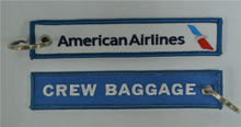 American Airlines Crew Baggage Personalized Promotional Key Tags 135x26mm 100pcs lot