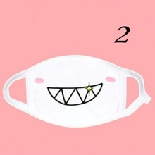 Cute Anime Kaomoji-kun Emotiction Mouth-muffle Kawaii Cotton Anti-Dust Winter Face Mask Women Girls Health Care 1PCS White Color(China)