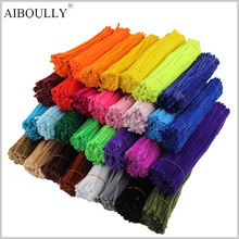 100Pcs Optional 14 Color Montessori Materials Chenille Children Educational Toy Crafts For Kids Colorful Pipe Cleaner DIY Toys