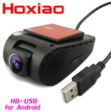 Car DVR Camera USB connector Vehicle HD 1280 * 720P DVRs for Android OS system mini Car Driving Recorder Camera(China)