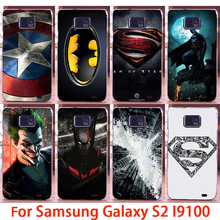 Soft Phone Cases For Samsung Galaxy SII I9100 S2 GT-I9100 Cases Superman Hard Back Covers Skins Shell Housings Sheath Bag Hoods