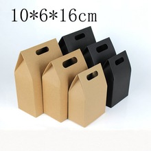 50pcs/lot Brown Natural Kraft Paper Bag Pouches Bag for Gift Wedding Favor Box for Guest Packaging for Cookie Tab Top Tent Boxes