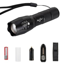 CREE XM-L T6 LED Flashlight 5 Modes Super Bright 18650/AAA Powered Zoomable Flashlight Torch(China)