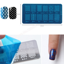 Nail Art Stamping Plates Unique Hollow Round Totem Lace Flower Stamp Nail Polish Stamping Manicure Stencil Diy Nails Beauty Gift