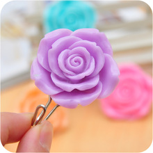 SALE!! 2Pcs/pack Plastic resin  rose Sticky Hooks Bathroom Kitchen  Self Adhesive Wall Hooks Hanger Bag Keys Hat  Sticky Holder