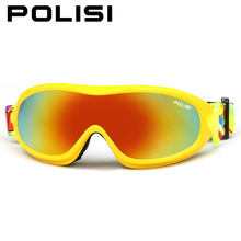 POLISI Children Kids Windproof Anti-Fog Ski Snowboard Goggles Outdoor Sport Skate Snow Glasses UV400 Winter Skiing Esqui Eyewear(China)