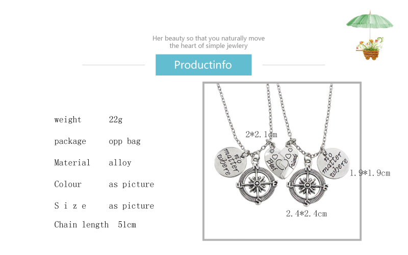 Compass BFF Necklaces For 2