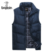 2017 New Brand Mens Jacket Sleeveless Vest Winter Fashion Casual Coats Male Cotton-Padded Men's Vest Men Thicken Waistcoat 3XL