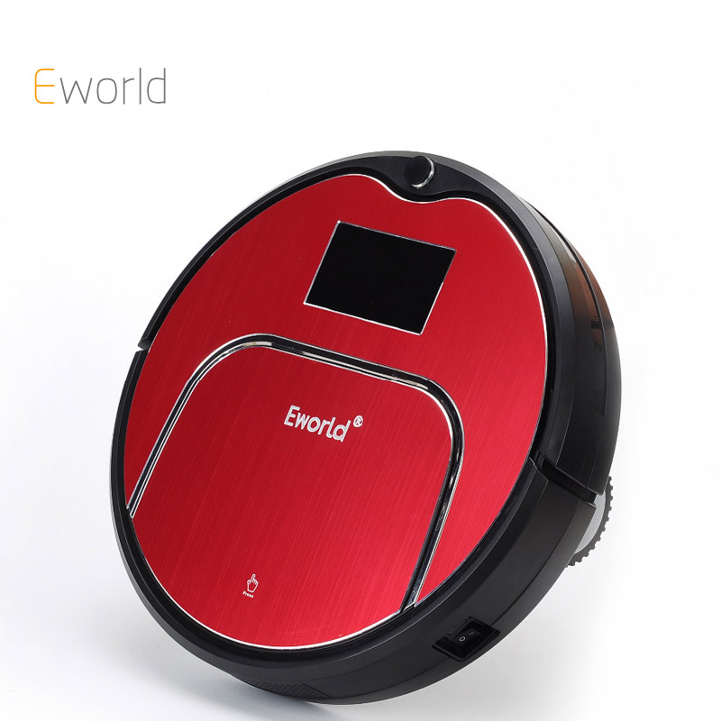 Eworld M883 Robot Vacuum Cleaner Household Vacuum Cleaner With Remote Controller Cleaning Brush and Senser For Clean Floor(China)