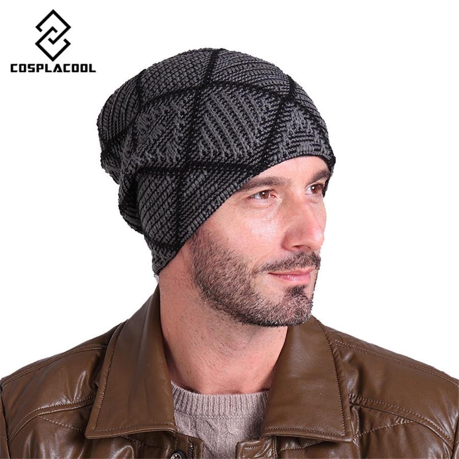 [COSPLACOOL] Beanies knitted hat mens winter hats skullies winter hat bonnet brand beanie mask outdoor Ski CapÎäåæäà è àêñåññóàðû<br><br><br>Aliexpress