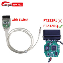 Best Qaulity For BMW INPA K+CAN K CAN INPA With FT232RQ Better Than FT232RL Chip with Switch for BMW INPA K DCAN USB Interface