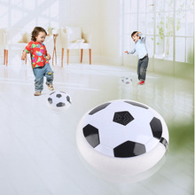 Hot Funny LED Light Flashing Ball Toys Air Power Soccer Disc Gliding Floating Football Game Indoor Sports Toys Chidren Gift