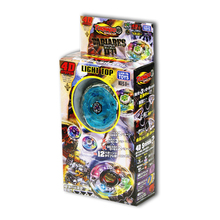 Colorful Glows Spining Top Toy Pull Rod Alloy Gyroscope Combat Gyroscope Set Toy with Launcher Beyblades Game for Kids Toys Gift