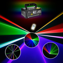 SUNY DMX512 Colorful Laser Stage Lighting Scanner Audio Show Light Remote Effect Projector illumination Fantastic Beam DM-RGB400