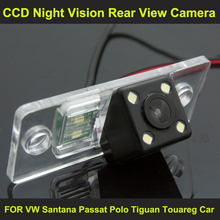 night vision with 4 LED lamps Car Rear View Reverse Camera for VW Santana Passat Polo Tiguan Touareg Car 8067LED