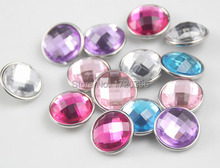 Wholesale 50pcs/lot Mix  colors glass 18mm Metal Snap Button leather bracelet Charm Button Ginger Snaps Jewelry for unisex