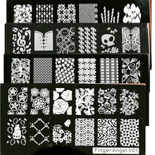 Buy New 1Pcs 6*12CM Nail Stamping Plates Stainless Steel Image Stamping Nail Art Manicure Template DIY Nail Tools 16 Designs for $1.14 in AliExpress store