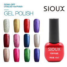 97-108 SIOUX 6ml UV Gel Nail Polish LED Lamp Long lasting Soak Off Cheap Gelpolish Vernis Top Coat Glue 108 Color SI07