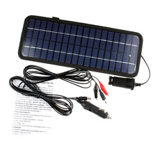 High Quality Top Selling 12v 4.5w Car Solar Panels Solar Charger Universal Rechargeable Portable Solar Cell Battery Charger