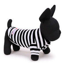 Summer strip cotton Small Dog cat Pet football polo t shirt vest dog sport coat sweatershirt dog Chihuahua Yorkshire clothes