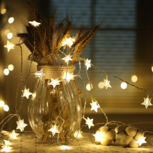 10m 100 LEDs LED star string Warm White Star String For Holiday Wedding Party Christmas Tree Decorative String Lights(China)